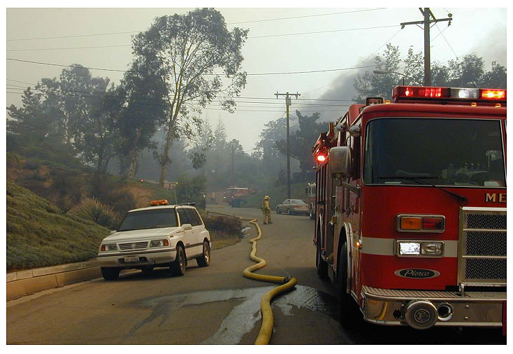 Anchor and Hold Water Delivery Evolutions for Wildland-Urban Interface Firefighting Operations