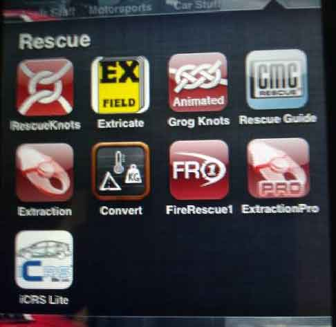 Critical information in Your Hands: Extrication Apps and Software