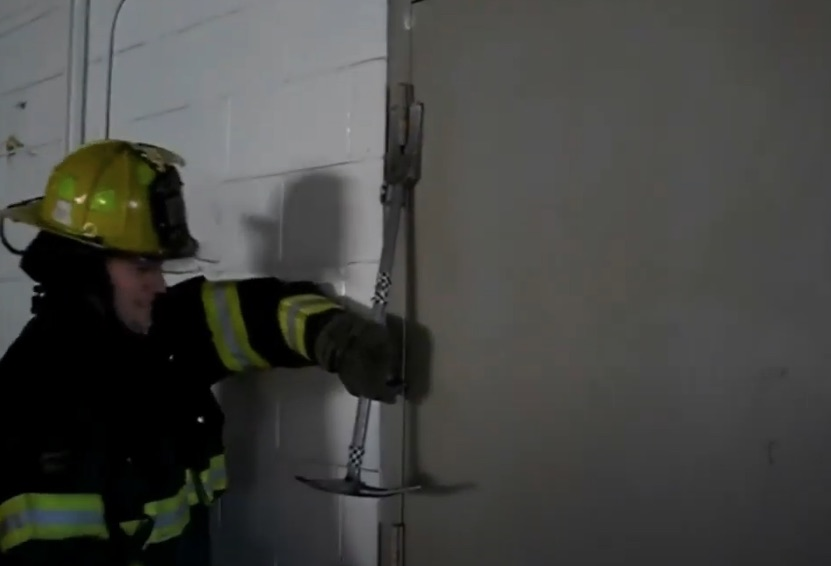 Forcible entry on hinges