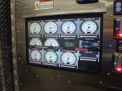 (1) Elkhart Brass/Fire Research EPIC automated pump panel. (Photos by author.)