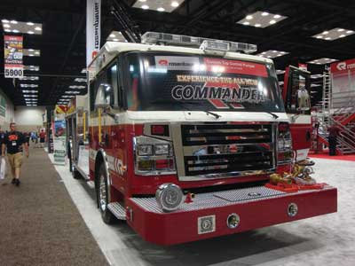 (11) Rosenbauer unveiled its new custom Commander chassis.