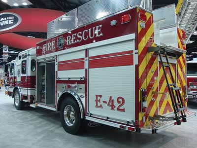 (17) E-ONE has expanded its E-Max series from the rescue pumper to aerial products and even commercial pumpers.