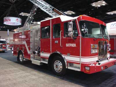 (20) Sutphen's wildland urban interface unit--a compact apparatus with room for hose, equipment, and pump-and-roll capabilities.