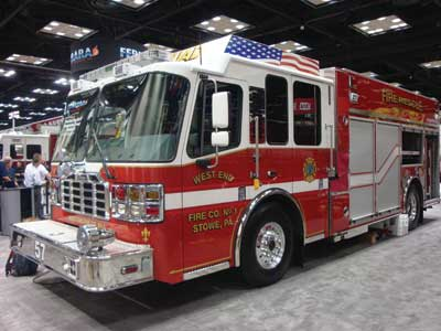 (24) Ferrara expanded its Multi-Vocational-Pumper (MVP) series to include a stainless-steel body for areas that use road treatments in the winter.