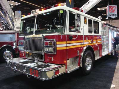 (34) Seagrave's 1,750-gpm pumper for Camden, New Jersey.