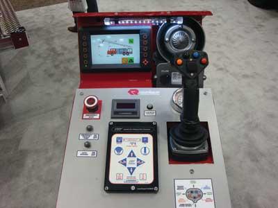 (4) Rosenbauer aerial joystick control.