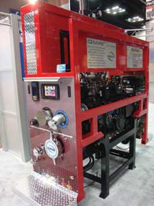 (5) Hale QMax-XS pump contained in a 28-inch-wide pump enclosure.