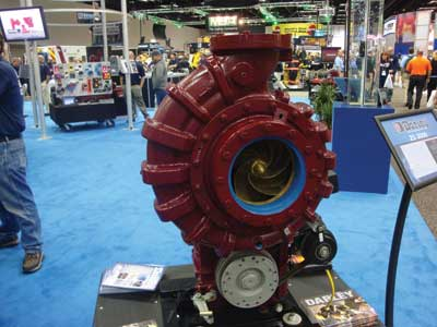 (6) Darley ZS-3000 pump with flows in excess of 3,400 gpm.