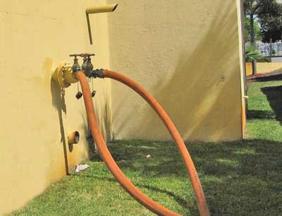 (21) Supplying the fire pump test header if the FDCs fail in a building with PRVs.