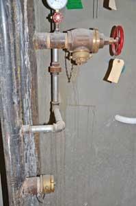 (23) An express drain riser facilities flow testing of PRVs.