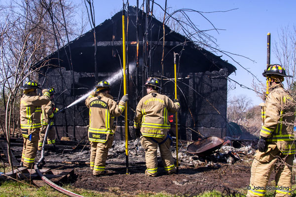 NY Firefighters Respond to Barn Fire