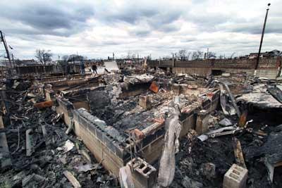 (4) This photo of the devastation was taken on November 1, 2012. (Photo by Steve Spak.)