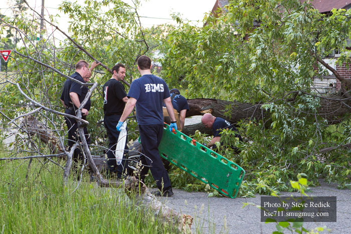 Detroit Firefighters Rescue Man Trapped Under Tree, photo by Steve Redick