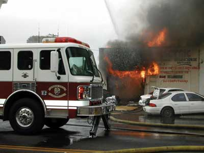 (1) Defensive fire incidents or incidents that caused major damages to businesses were not included in the study. [Photos courtesy of the Phoenix (AZ) Fire Department.]