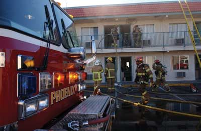 (2) The Phoenix Fire Department extinguishes many fires before major damages are done to the structure. These fire incidents represent a major portion of the department's call activity and prevent interruptions in the local economy.