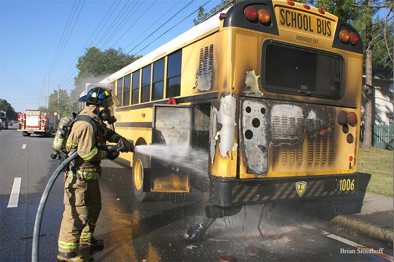 Three Injured in Ocala (FL) School Bus Fire