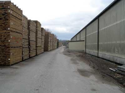 stickered lumber