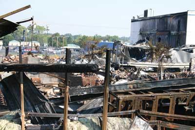 plastics factory fire
