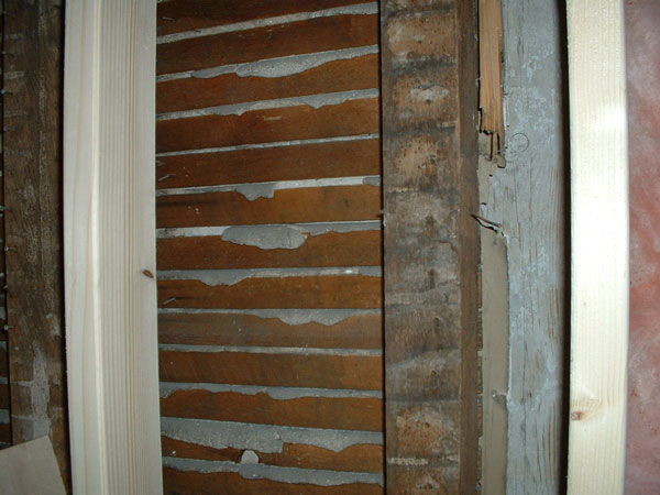 A wall from the late 1800s during a recent remodeling project