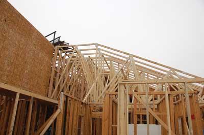 The 2- × 3-inch truss work