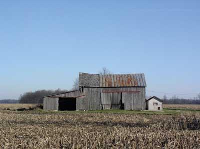 barn, an obvious collapse hazard