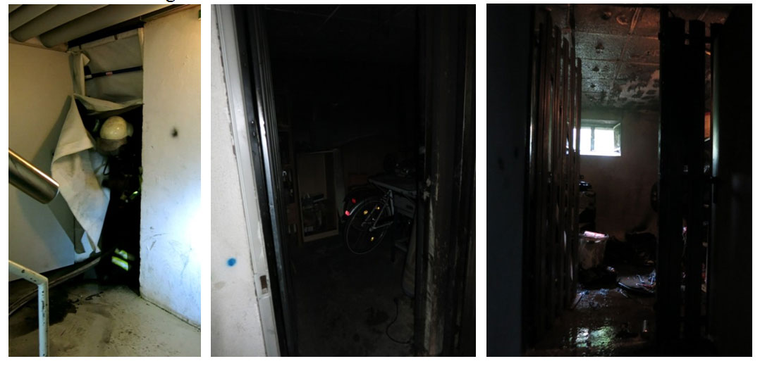 The damage to the compartment when a smoke-blocking device is used.
