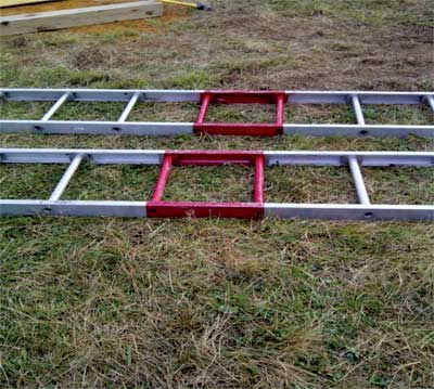 (4) Marking the ladders in the middle makes them readily available for a one-person carry. (Photo by Brittany Swan.)