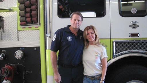 Scottsdale Fire Department Capt. Sean Cooney and Deb Kesling