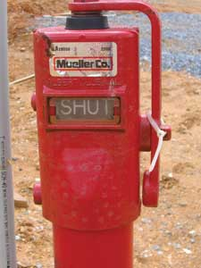 (3) A closed post-indicator valve will prevent the suppression system from working as designed.