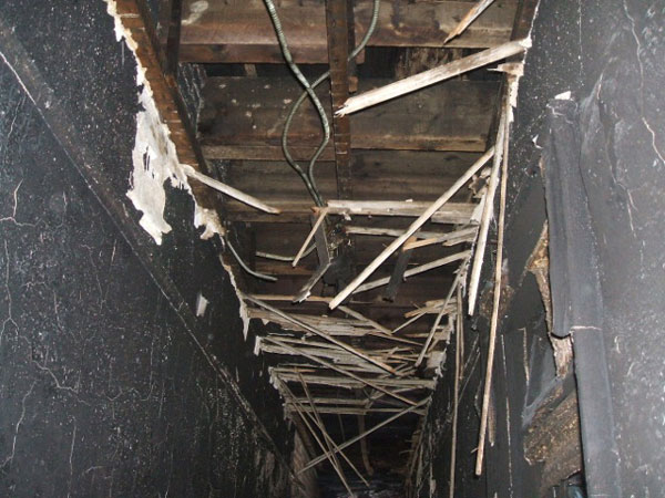 Structural firefighting: Opening up to check for fire extension