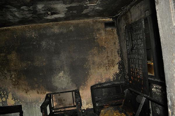 Fire investigation: V pattern