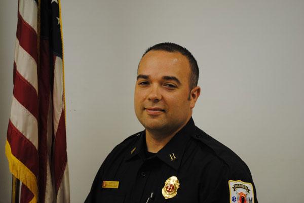 Captain Sean Killelea of the Warren Township (IN) Fire Department