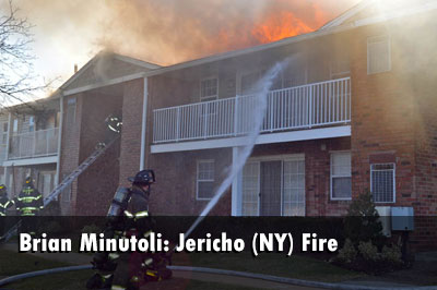 The Jericho Fire Department responded to a working fire at a garden apartment complex.