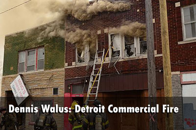 Structural Firefighting: Detroit vacant commercial building