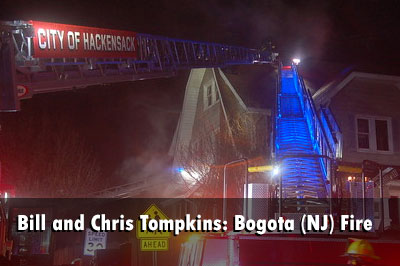 Firefighters from multiple departments responded to a second-alarm fire at a vacant home in Bogota, New Jersey.