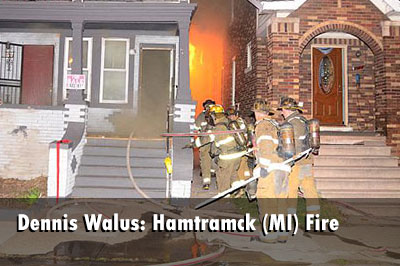 Dennis Walus has some pictures of firefighters from the Hamtramck (MI) Fire Department operating at a working fire in a four-family dwelling.