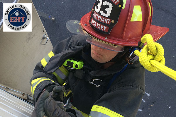 Firefighter self-rescue: A firefighter undertaking bailout training