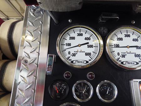 When operating from a positive pressure water supply, you should get an indication on the intake/compound gauge.