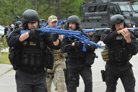 (4) Tactical law enforcement teams with heavy weapons and specialized training may be required to neutralize a threat. Patrol officers are trained to immediately enter the area and engage the threat. However, they may not succeed. These teams require time to mobilize and deploy. Use caution and patience while waiting for tactical team deployment.