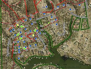 NIST fire behavior map from Texas wildland fire