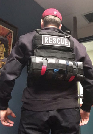 (2) The back of a ballistic ensemble.