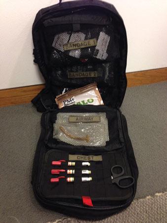 (4) A drop bag deployed.