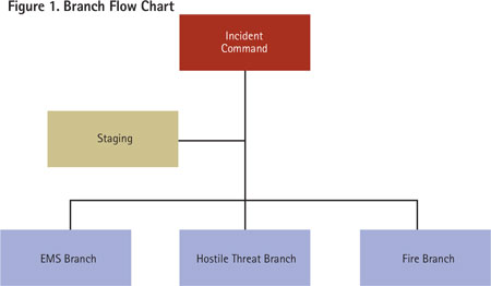A separate branch is needed in the incident command system. (Figures 1-7 by Daniel J. Neal.)