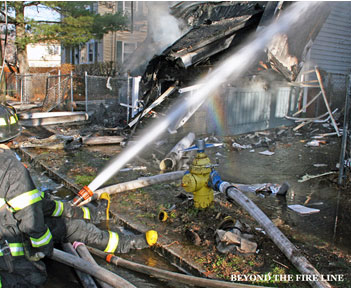 Columns failed under fire conditions