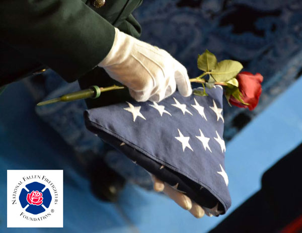 NFFF: Firefighter bearing flag
