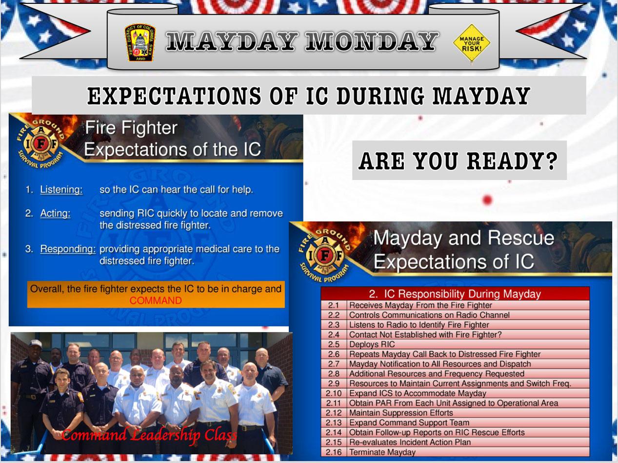 Command leadership: Mayday expectations