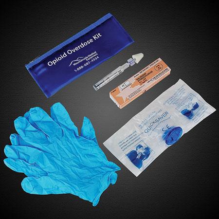 (1) Naloxone overdose kit.<i> (Photo courtesy of Mountainside Medical.) </i>