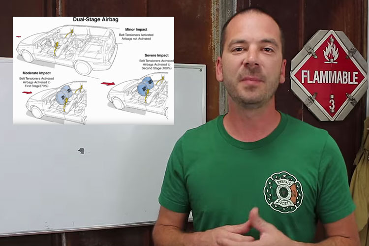 Brock Archer discusses dual-stage airbags and how they can affect firefighters operating at MVAs.