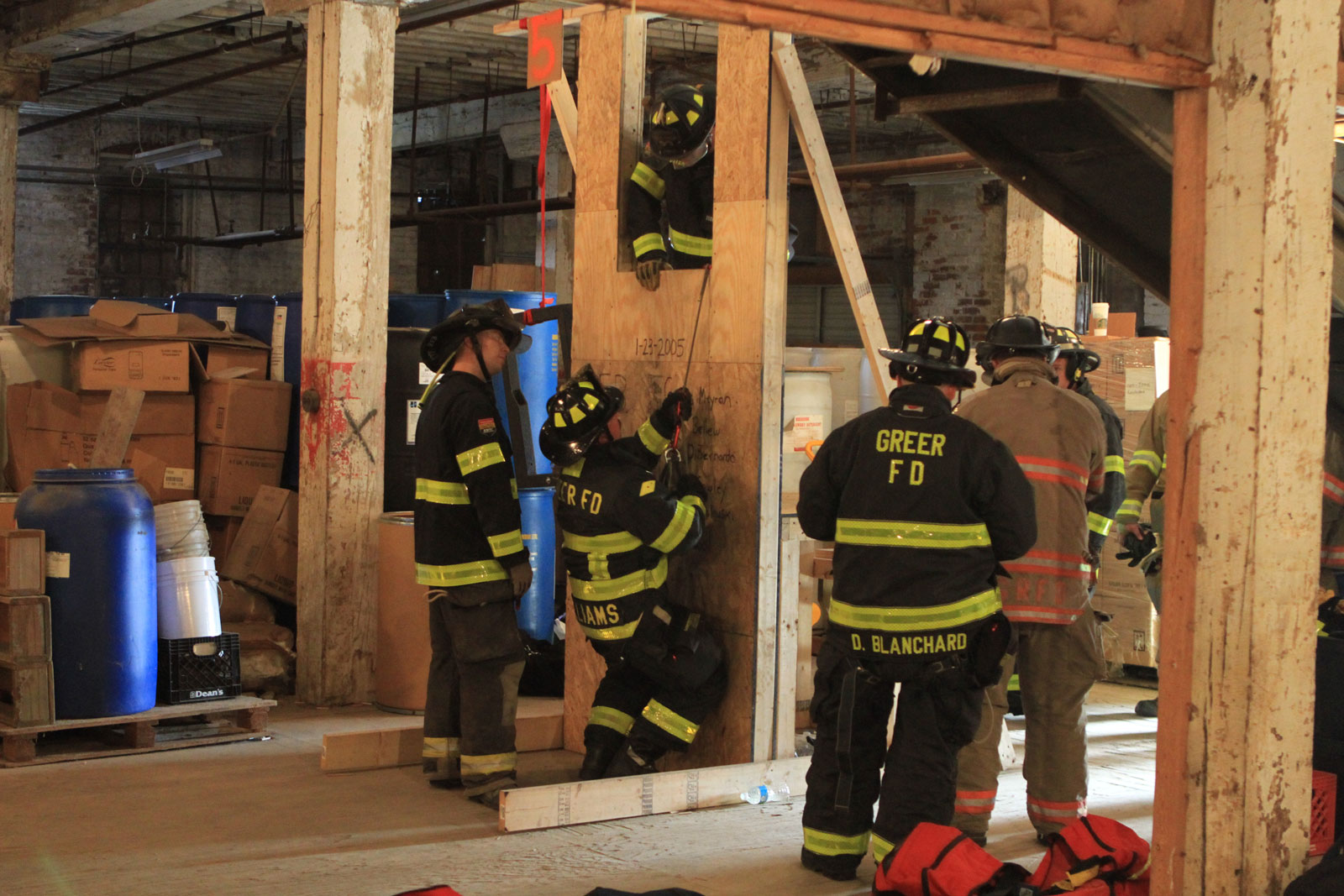 Firefighter bailout training at FDIC