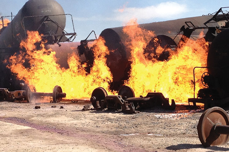 Preplanning for Incidents Involving Crude Oil Rail Shipments: Using the Military Planning Model as a Guide